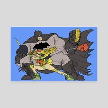 Batman And Robin - Canvas by M C Wolfman