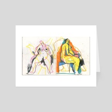 100918. invisible dog. (5 of 5) - Art Card by alex eben meyer