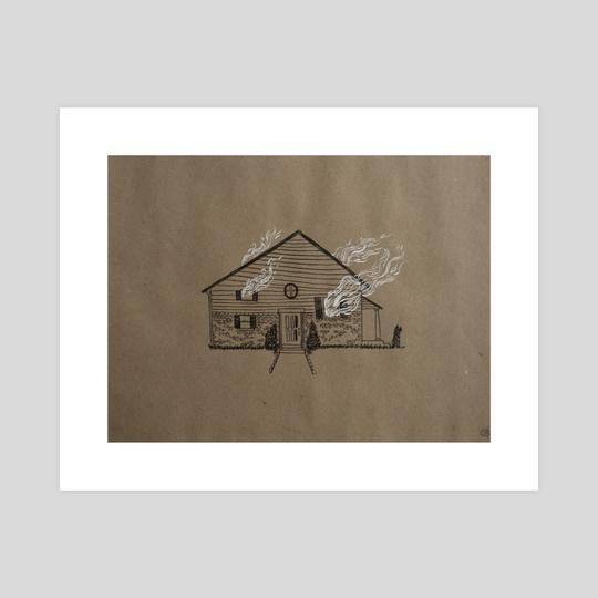 Flaming House by Chioma Ebinama