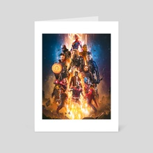 New Avengers - Art Card by Athul  M