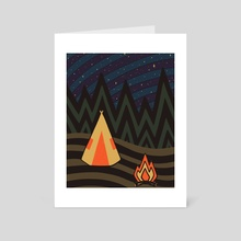 OVERN/GHT - Art Card by Dylan Morang