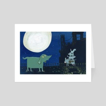 Ook the Book // Ow the Cow - Art Card by Shannon McNeill