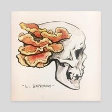 Mushroom Skull - L. Sulphureus - Canvas by NYWN [ˈna͜i.ˌwɪn]