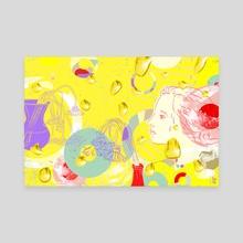 Summer as Erasure - Canvas by Lola Landekic