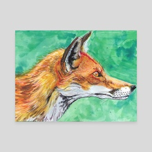 Fox - Canvas by Katrīna Tračuma