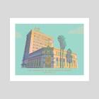 The Farmers & Merchants Bank, Long Beach, CA - Art Print by Jordan Lance