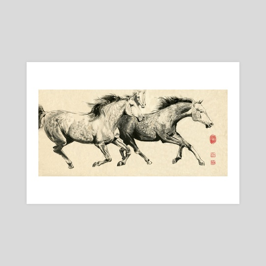 Horses - 1 by River Han