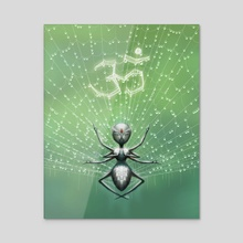 Blissful Spider - Acrylic by Alfred Manzano