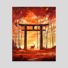 Sun Stag - Canvas by Sam Lee