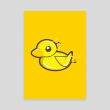 Cute Duck - Canvas by Imagi  Factory