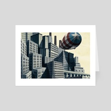American Metropolis - Art Card by Corey Brickley