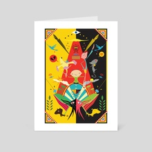 Dog Mandala - Art Card by Sung goo Won