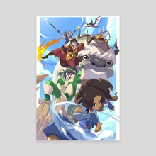 Team Avatar - Canvas by Mikk Dado