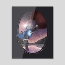 Gray stars - Acrylic by Igzell
