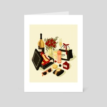 MATERIALISM - Art Card by Natalie Shaw