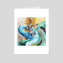 Blue Snake - Art Card by Carlos Pérez Lagos