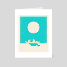 Swimming Lessons - Art Card by Jazzberry Blue