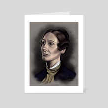 Anne Lister colorized portrait  - Art Card by Marlaina  Mortati