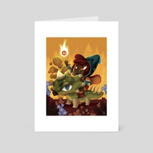 Dino witch willo - Art Card by Anthony MOULINS