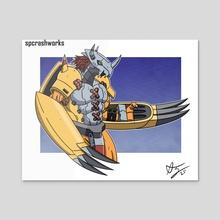 Courageous Warrior  - Acrylic by Seth Casarez