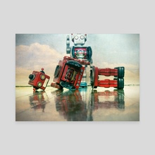 robot wars  - Canvas by Charles Taylor
