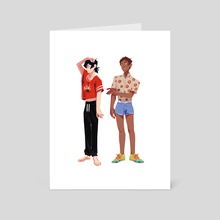 Voltron - Fashion - Art Card by corvuxredux