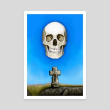 Skull and Goldsmith's Cross - Canvas by Peter Andrew