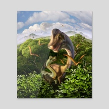 Ultrasaurus - Acrylic by Jerry LoFaro