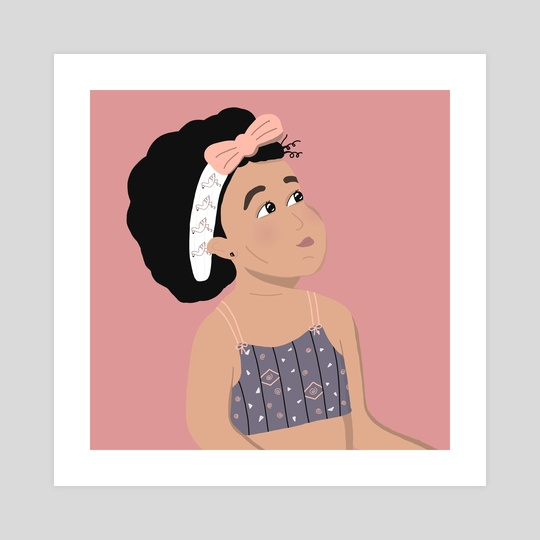 Female portrait - Baby by ToastAndToons by Purva Chawan