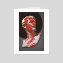 BUBBLE WRAP MAN - Art Card by Gigi Gvalia