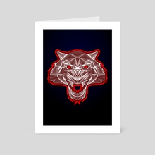 Tiger face - Art Card by Dmitry Payvin