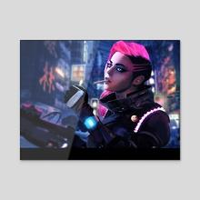 Cyberpunk - Acrylic by Petri Rahkola