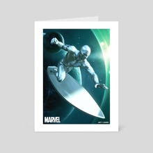 Silver Surfer - Art Card by Art Of Asher