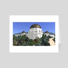 Griffith Observatory - Art Card by Russell Quinn
