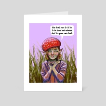 Live Your Own Truth - Art Card by Lyle O'Mara