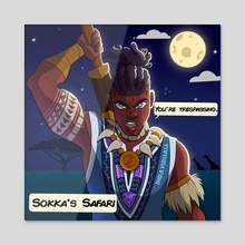 South African Sokka - Acrylic by David Asimeng