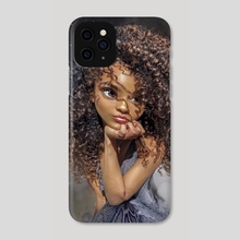 Curly Girl - Phone Case by Andy Art