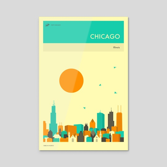 CHICAGO TRAVEL POSTER by Jazzberry Blue