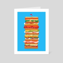 huge sandwich - Art Card by Lucia Calfapietra