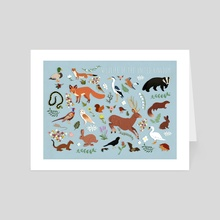 Wildlife of the United Kingdom - Art Card by Sophie Eves