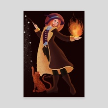 Witches and Wizards - Canvas by Becky Wiffen