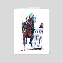 American Pharoah - Art Card by Katie Bratcher