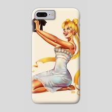 usagi pin-up - Phone Case by Andrea Mephiane