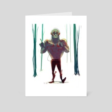 Drax The Destroyer Walkman Adventures - Art Card by Patrycja Cmak