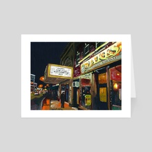 Jakes at Night  - Art Card by Chris Gentes