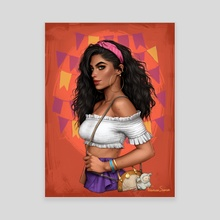 Esmeralda - Canvas by Fernanda Suarez