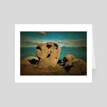 Rock Formations - Art Card by Alan Carson