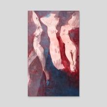 Les trois muses I - Acrylic by Emilien Corbinaud Lorenz