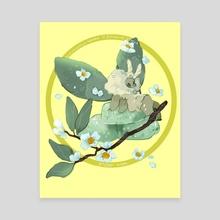 mochi moth: green tea - Canvas by cosmicloak