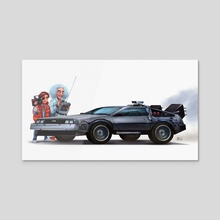 You made a time machine out of a Delorean? - Acrylic by Shaun Keenan